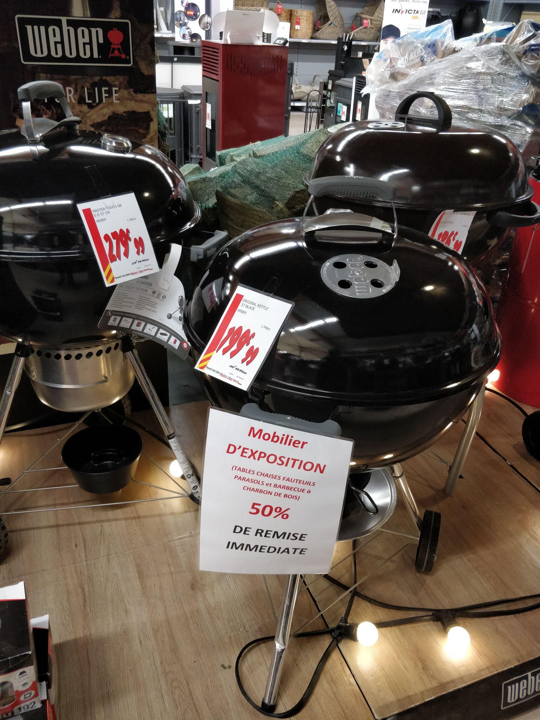 50% de réduction sur les Barbecues Weber (Modèles d'exposition) - Cournon (63)