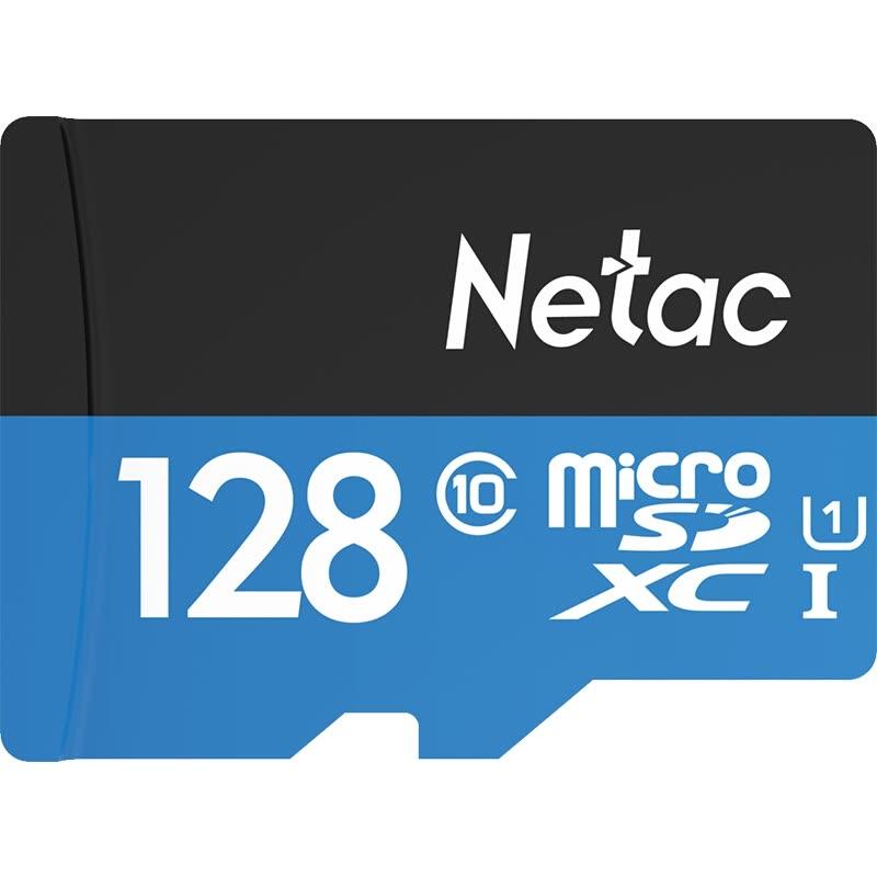 Carte Micro SDXC Netac P500 (Classe 10) - 128 Go