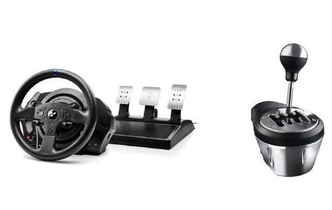 Volant ThrustMaster T300RS GT Edition +  Levier de vitesse TH8A Shifter Add-on pour PS3, PS4 et PC