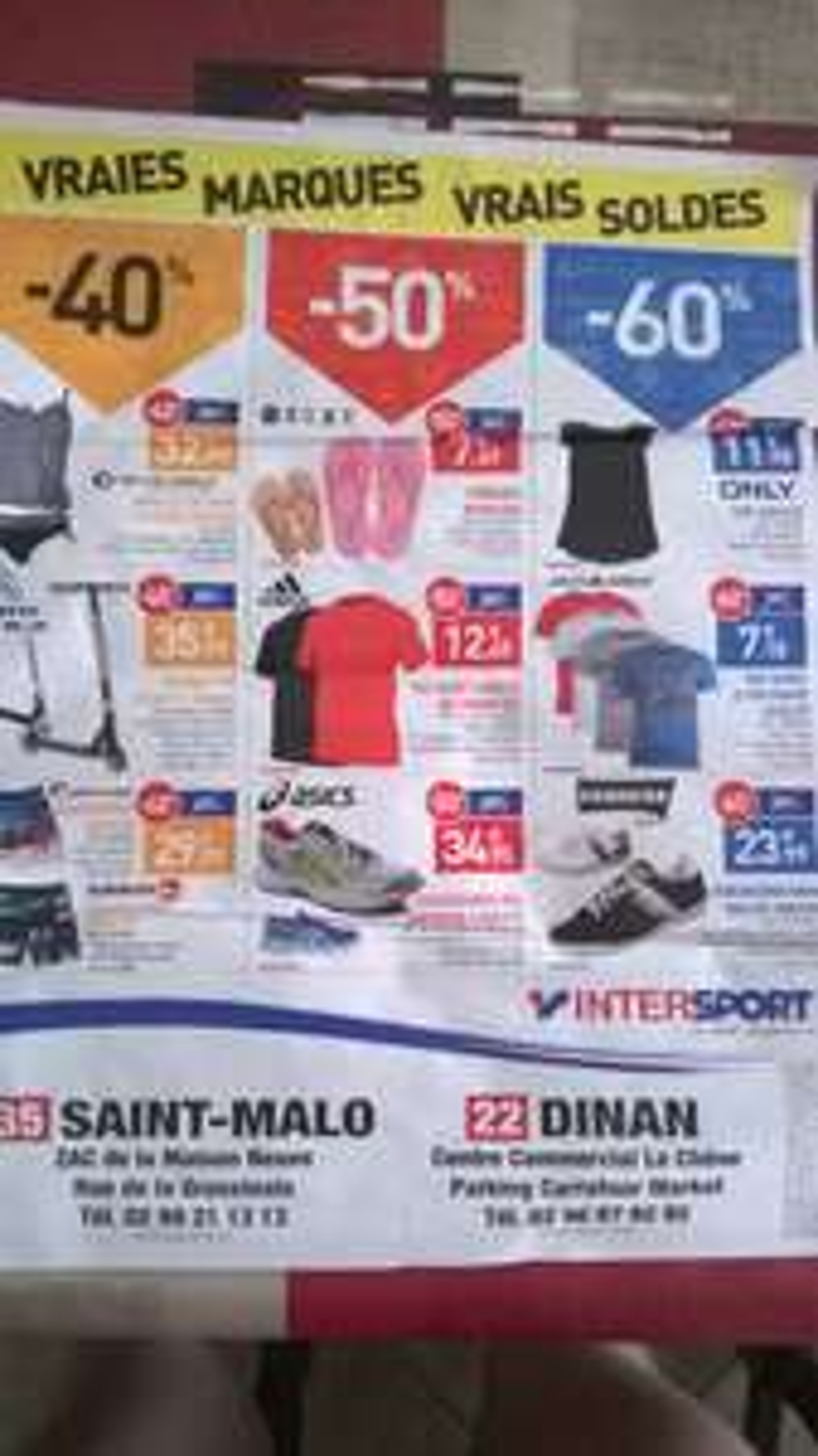 Sélection de soldes Intersport - Ex: Tshirt JJ or Grappe Adulte