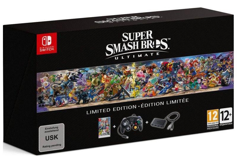 [Précommande] Super Smash Bros Ultimate sur Nintendo switch + Manette collector + Adaptateur pour manette Nintendo