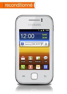 Samsung Galaxy Y Blanc reconditionné