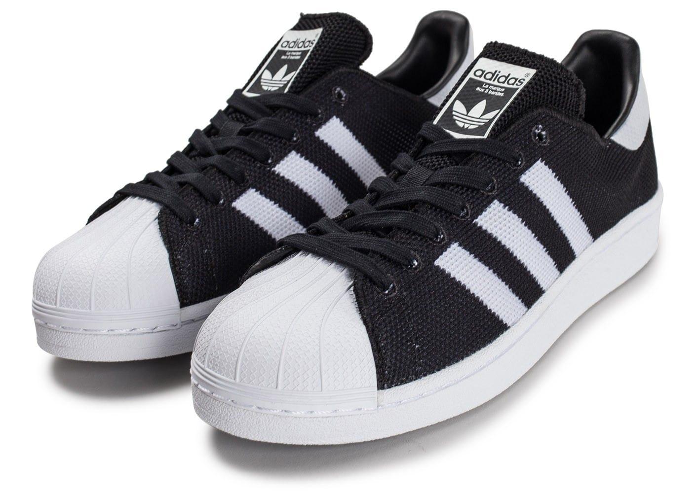 Baskets Adidas Superstar mesh noire - du 43,5 au 46