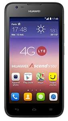 """Smartphone 4,5"""" Huawei Ascend Y550 4G - Blanc ou noir + Batterie de secours (via ODR de 30€)"""