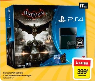 20€ en bon d'achat par tranche de 100€ en multimédia, jeux vidéo et électroménager - Ex: PS4 500Go + Batman Arkham Knight (via 60€ en bon d'achat)