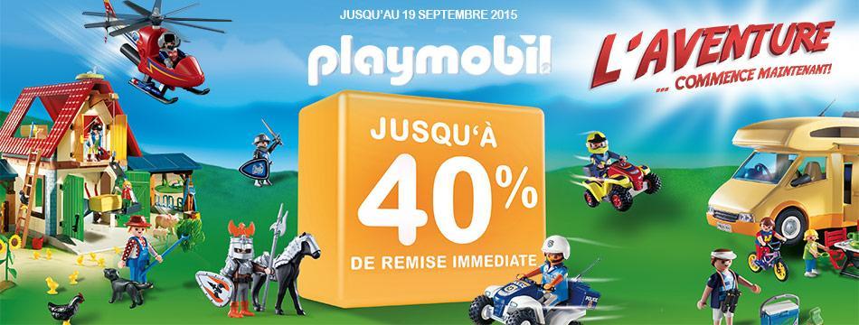 40% de réduction sur sélection Playmobil dès 150€ d'achat sur une période de 2 mois