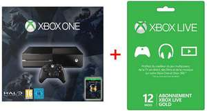 Console Xbox One + Halo the master chief collection + Xbox Live gold