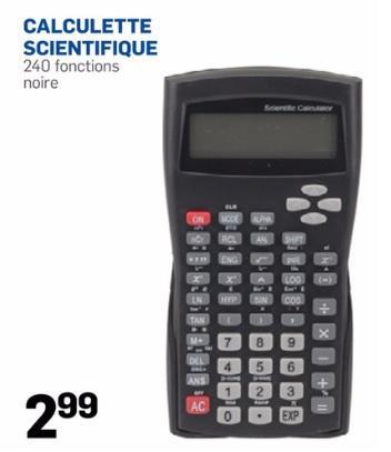 Sélection d'affaires scolaires en promo - Ex : calculette scientifique 240 fonctions