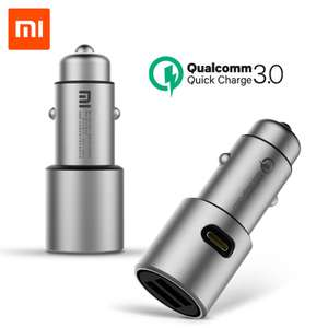 Chargeur allume-cigare Xiaomi (Quick Charge 3.0 - 36W) - 2 Ports USB-A + 1 Sortie Accessoire