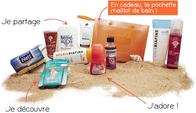 Box soins été (Le petit marseillais, Soleilbiafine, Cicabiafine...) - 10 produits à 41€ ou 8 produits