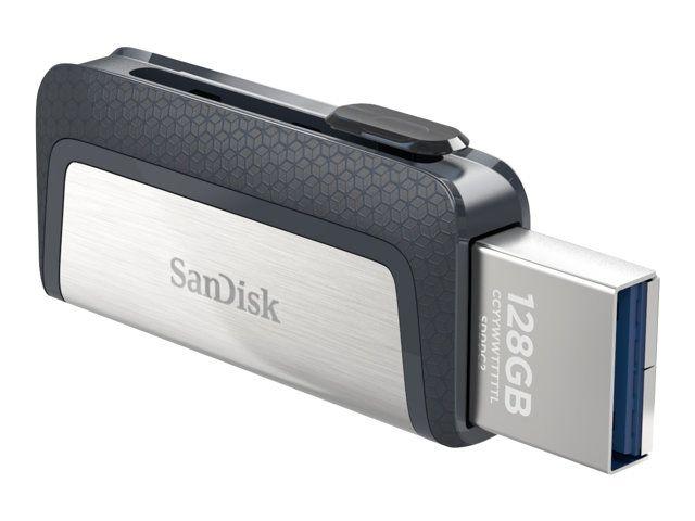 Clé USB 3.1 Type C SanDisk Ultra Dual - 128Go + 1.68€ en SuperPoints