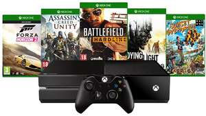Pack Console Xbox One 500 Go + 2 jeux offerts + (play and charge OU télécommande multimédia)