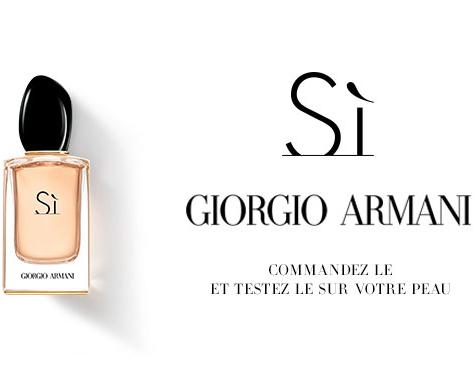 Échantillon de parfum Sì de Giorgio Armani pour Femmes gratuit
