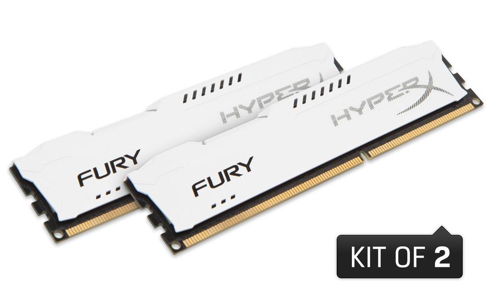 Kingston Fury White 16Go (2x8Go) Hyper X PC12800 1600MHz CL10