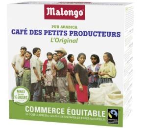 Lot de 3 boite de 16 dosettes de Café des petits producteurs Malongo