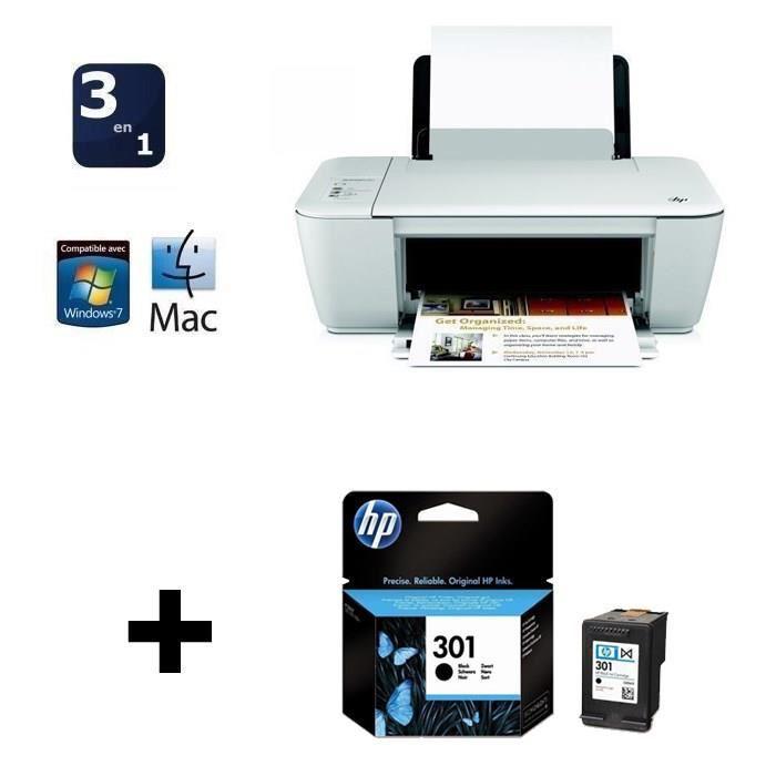 Imprimante HP Deskjet 1512 + cartouche HP n° 301 Noire