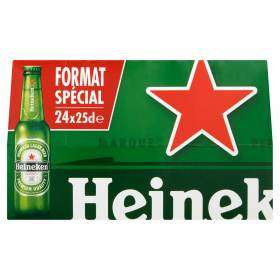Lot de 2 Packs de Bières blonde Heineken - 48x25CL