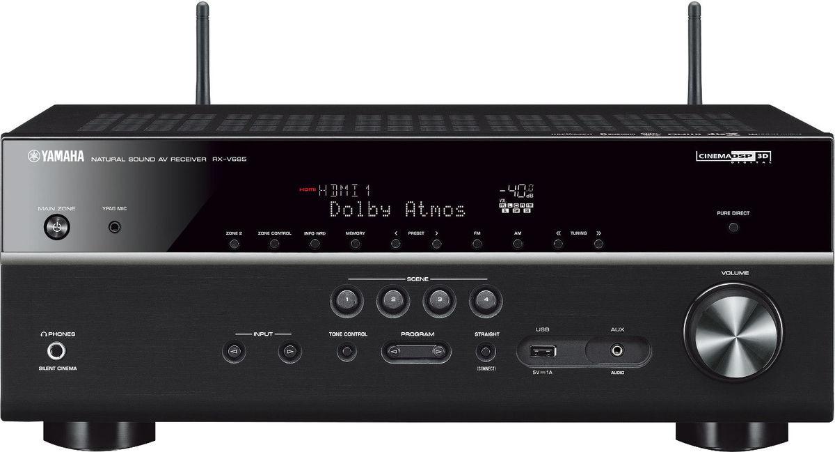 Ampli Home Cinema 7.1 Yamaha RX-V685 - Entrée phono, Preout, HDMI 2.0b, Upscaling Ultra HD , Coloris Noir