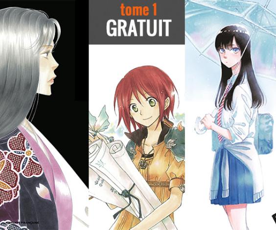 Sélection de manga en promotion - Ex: Shirayuki aux cheveux rouges ... (3 tomes gratuits dématérialisés)
