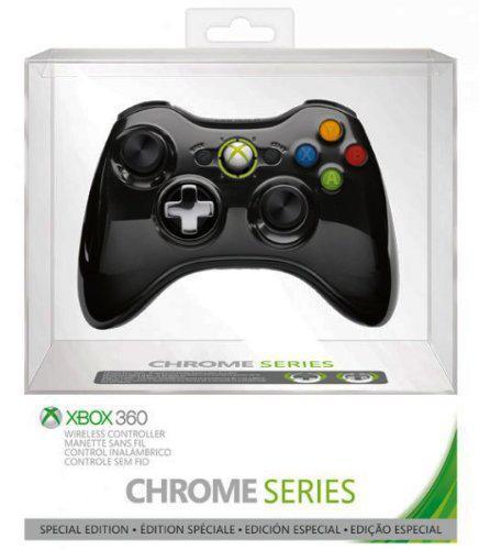 Manette sans fil pour Xbox 360 - chrome noire
