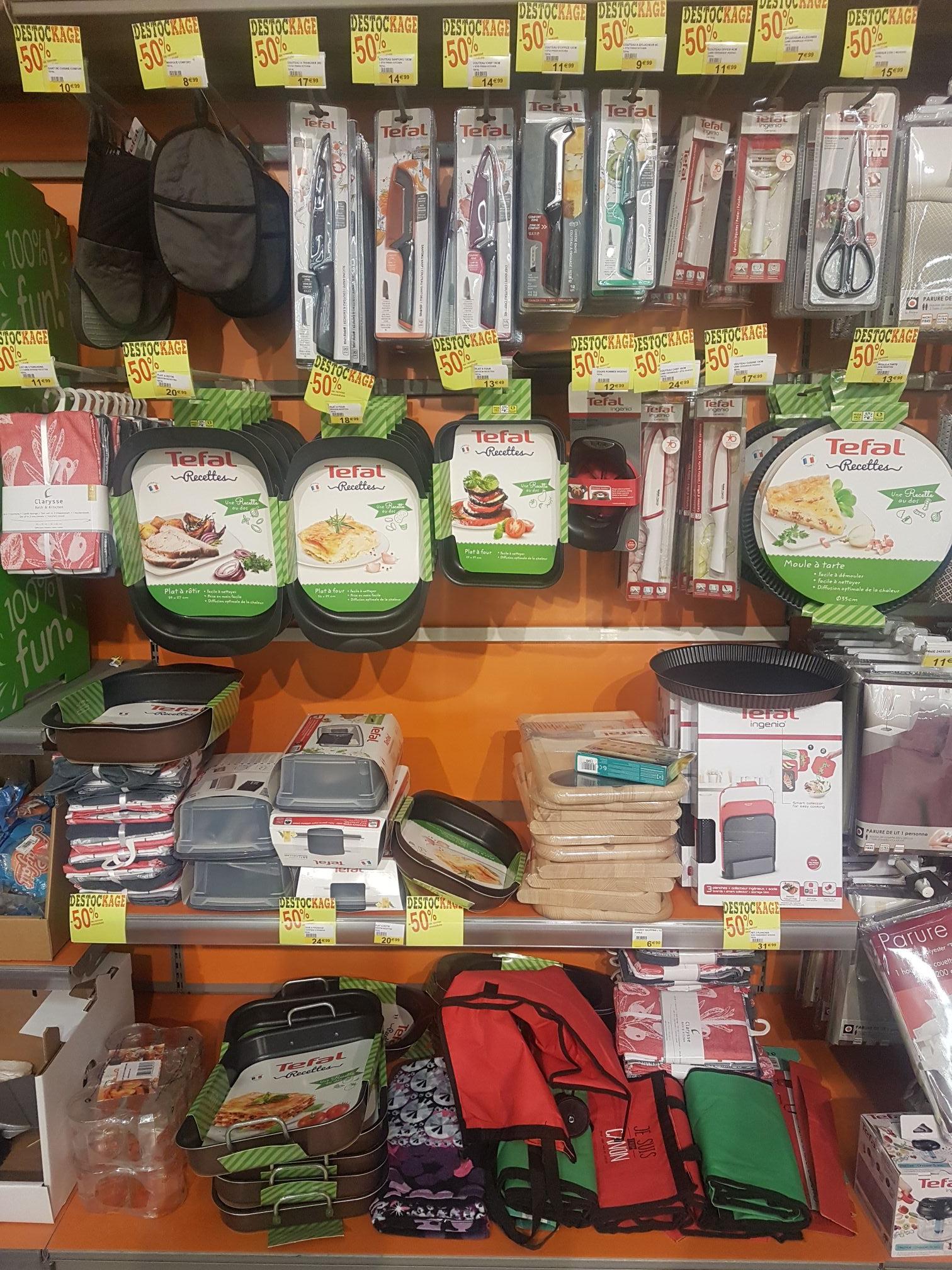50% de réduction sur une sélection de produits Tefal à Cora Garges Les Gonesse (95)