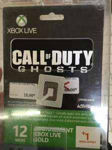 Abonnement Xbox Live Gold 12 mois Call of Duty Ghosts