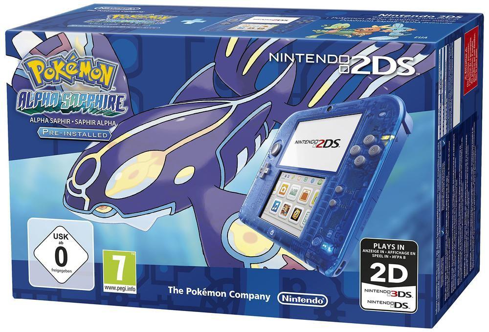 Console Nintendo 2DS Bleu + Pokémon Saphir Alpha