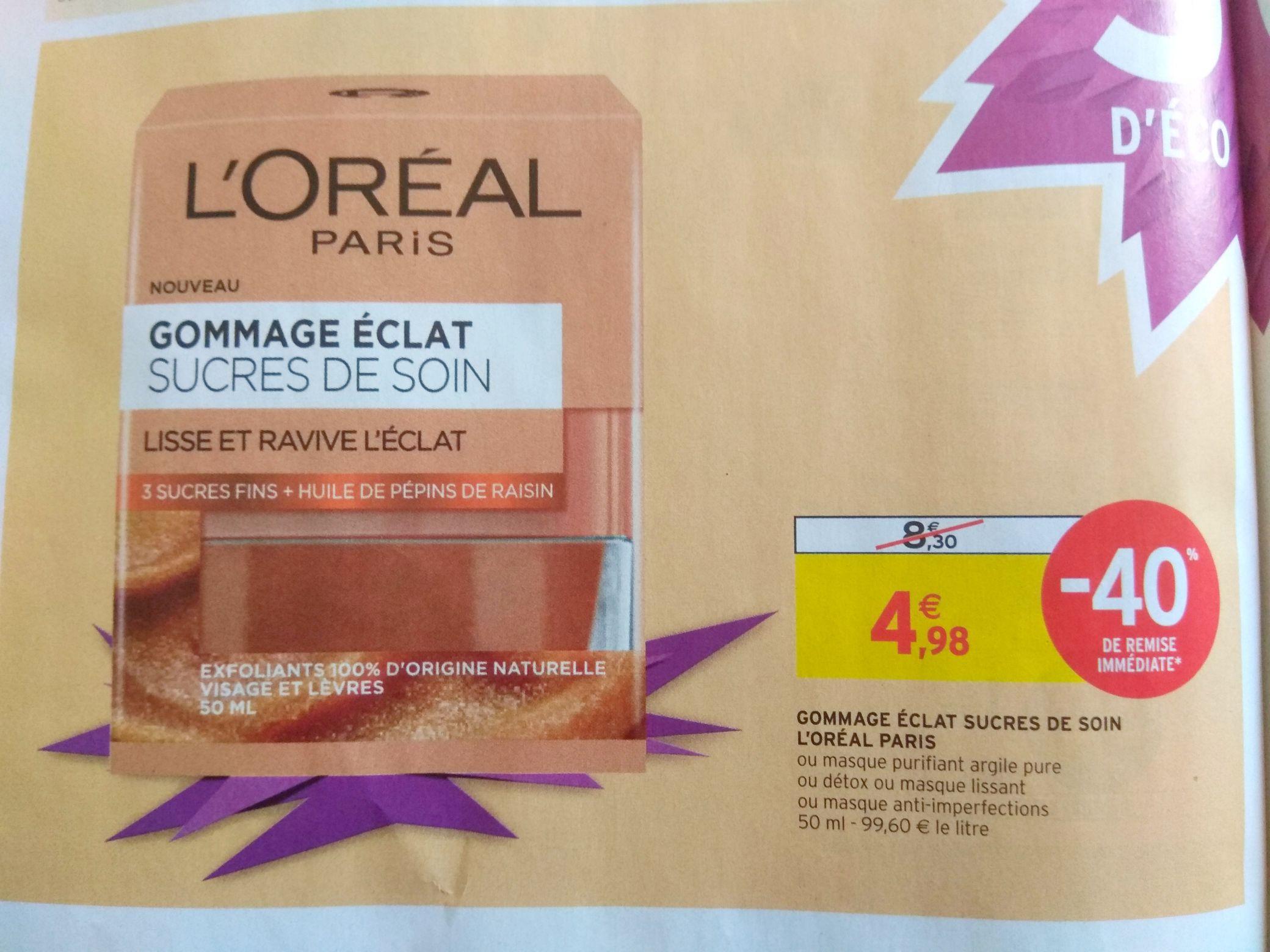 Gommage éclat sucre de soin L'Oréal Paris - 50 ml