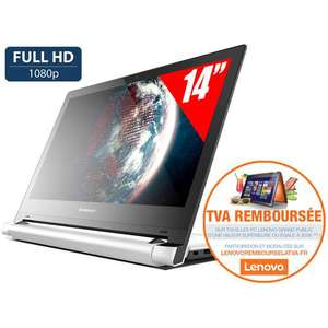 "PC Portable 14"" Tactile Lenovo Flex 2  - Intel Core i7 , Disque Dur 1 To, 8 Go RAM (Avec ODR)"