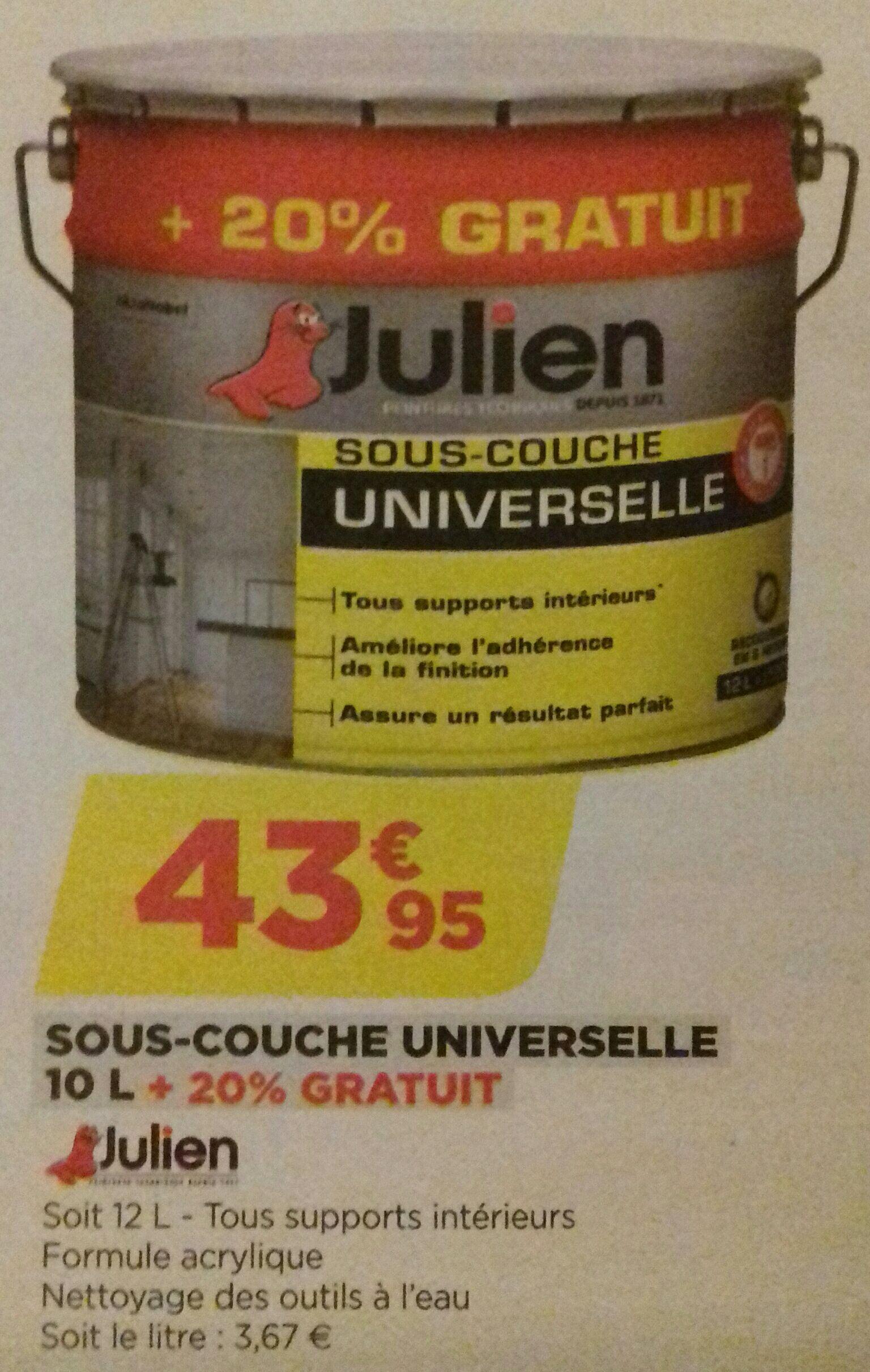 1 Pot de Sous-couche Julien - 12 Litres