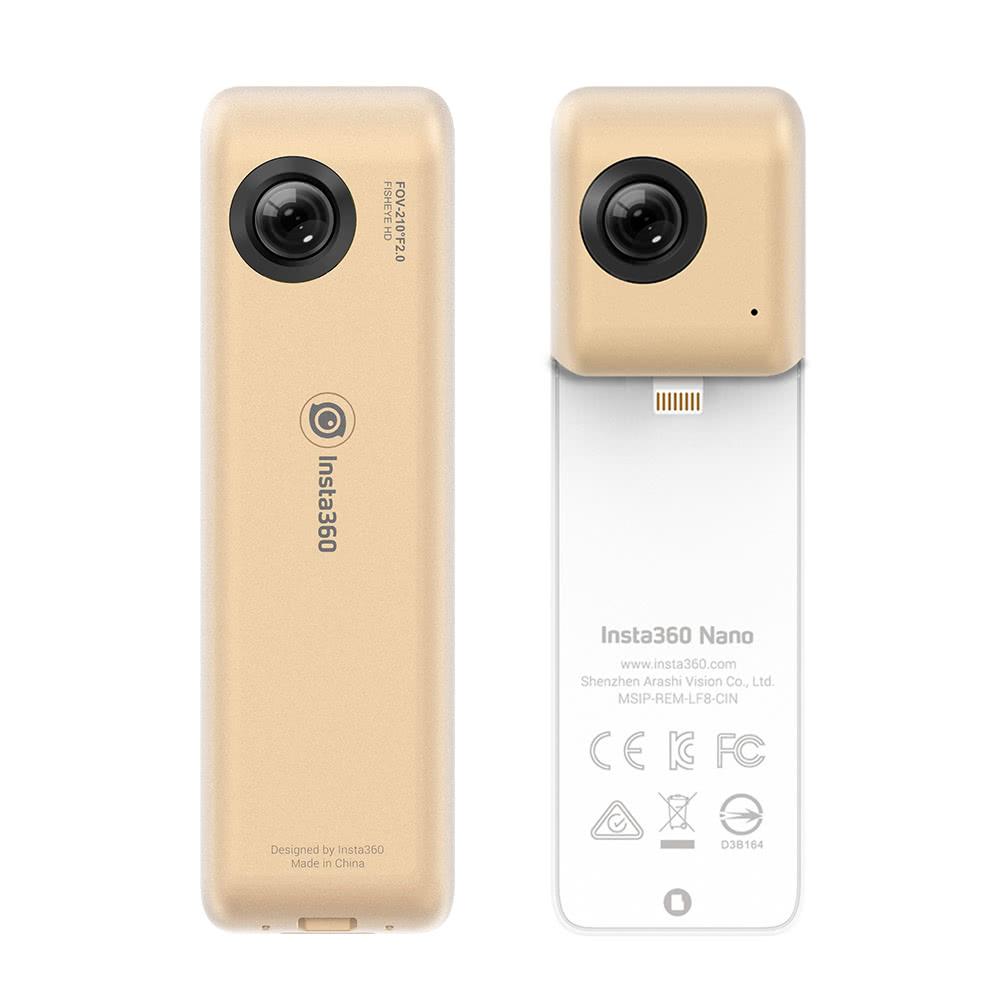 Caméra VR 360° Insta360 Nano pour Apple iPhone - 3K / 30 fps, Port microSD, Batterie 800mAh