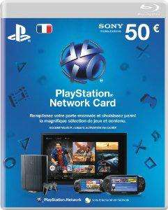 Carte PlayStation Network 20€ à 17.5€ et 50€