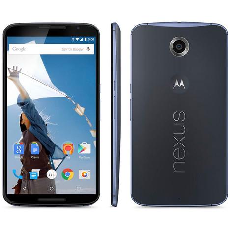 """Smartphone 6"""" Google Nexus 6  - 32Go Bleu"""