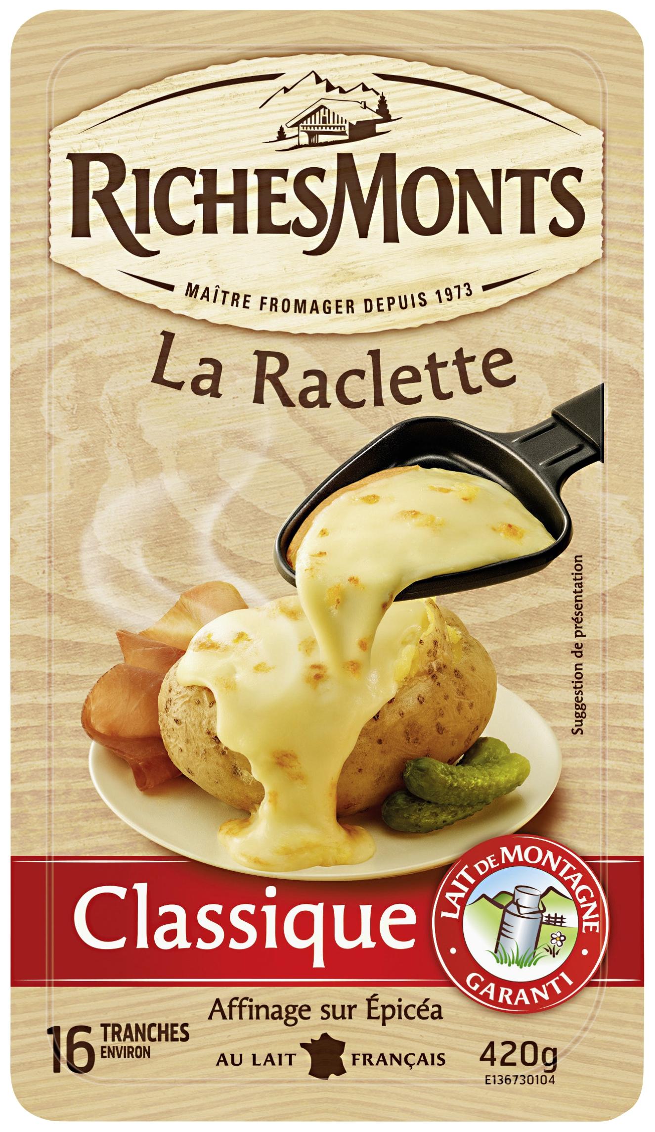 3 Barquettes de fromage à raclette Richemont - 3x420 g (via 2.2€ sur la carte fidélité)