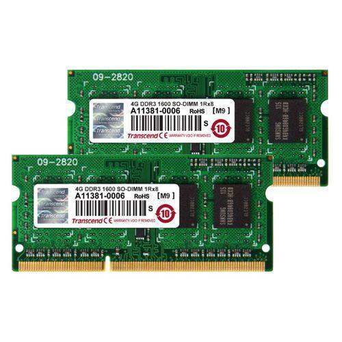 Mémoire SO-DIMM Transcend 8 Go (2 x 4 Go) pour Mac