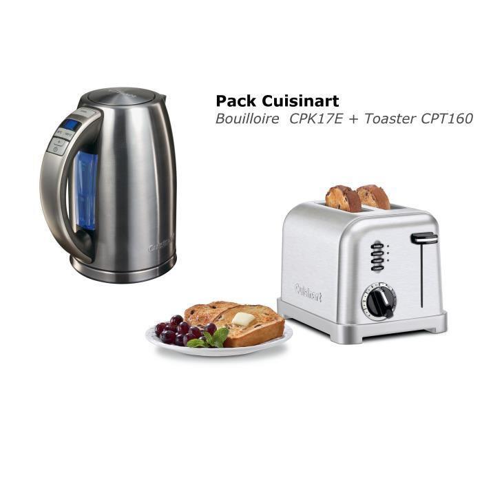 Pack Cuisinart : Toaster CPT160 + Bouilloire CPK17E