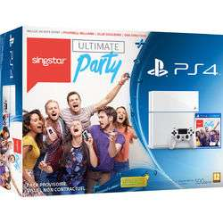 Console PS4 500Go Blanche + Singstar