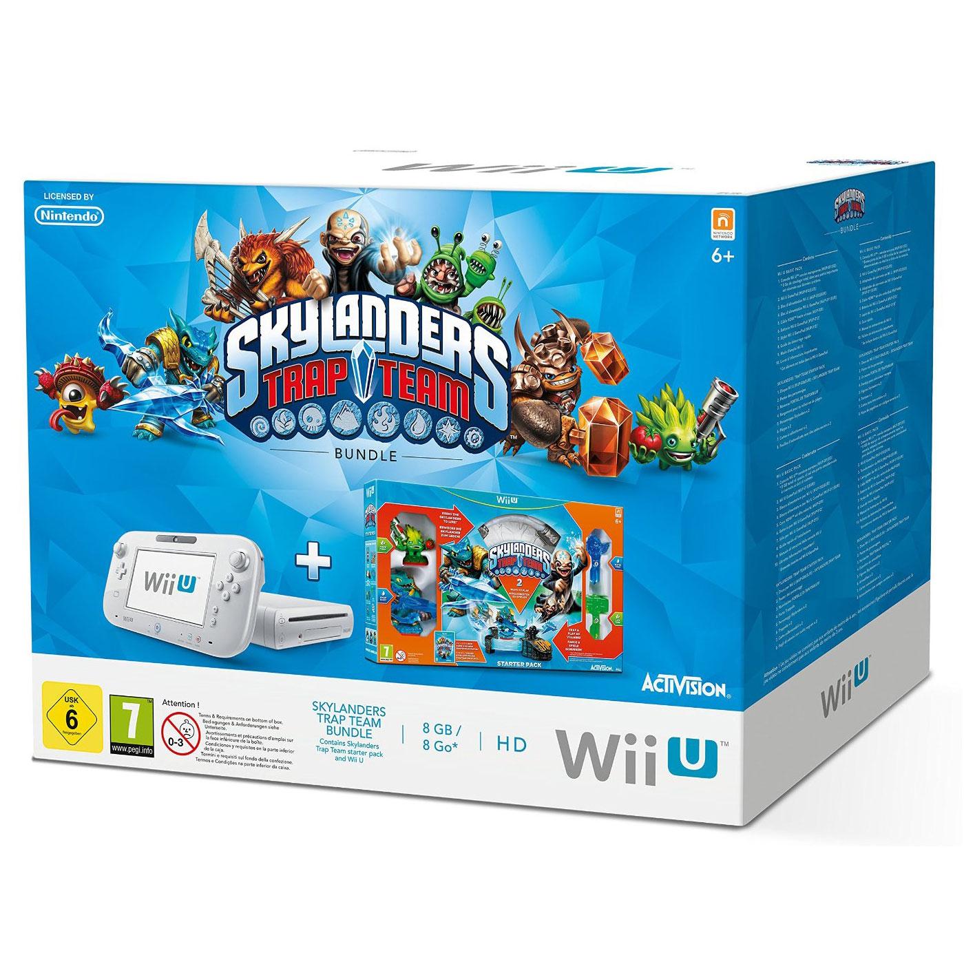 Pack Console Nintendo Wii U Basic + Pack de démarrage Skylanders Trap Team