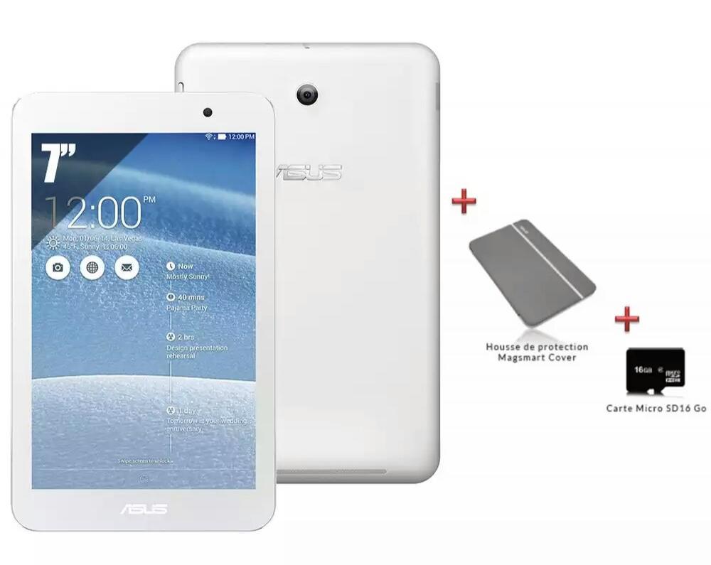 Tablette Asus MeMO Pad 7 (ME176CX) + housse + carte SD 16go