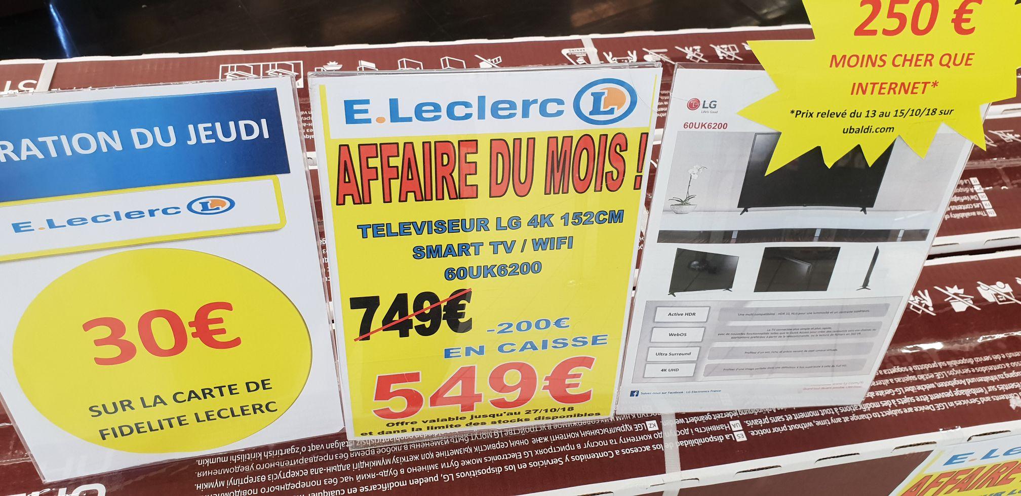 """TV LED 60"""" LG 60UK6200 - 4K UHD, Smart TV - Comboire (38)"""