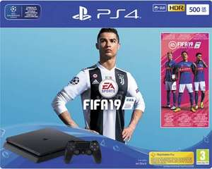 Pack console Sony PS4 Slim (500 Go) + FIFA 19 + abonnement de 14 jours au PS Plus (frontaliers Suisse)