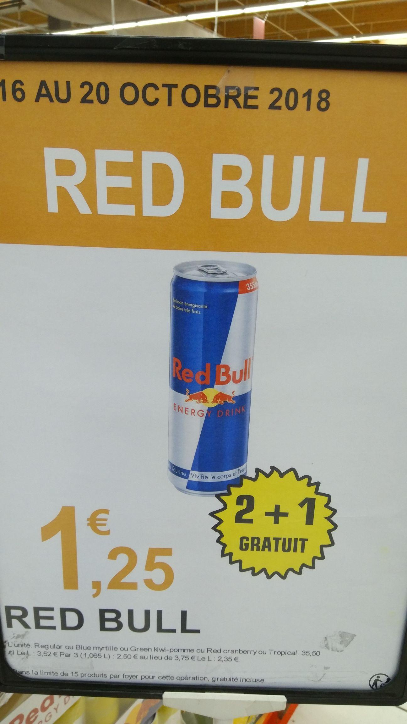 Lot de 3 Boissons Energisantes Red Bull (Variétés au choix) - 3 x 355ml - Conflans-Sainte-Honorine (78)