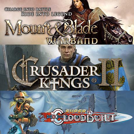 3 Packs de 3 jeux PC à partir de 4.39€ - Ex: Mount & Blade Warband + Crusader Kings II + Super Cloudbuilt (Dématérialisés -Steam)