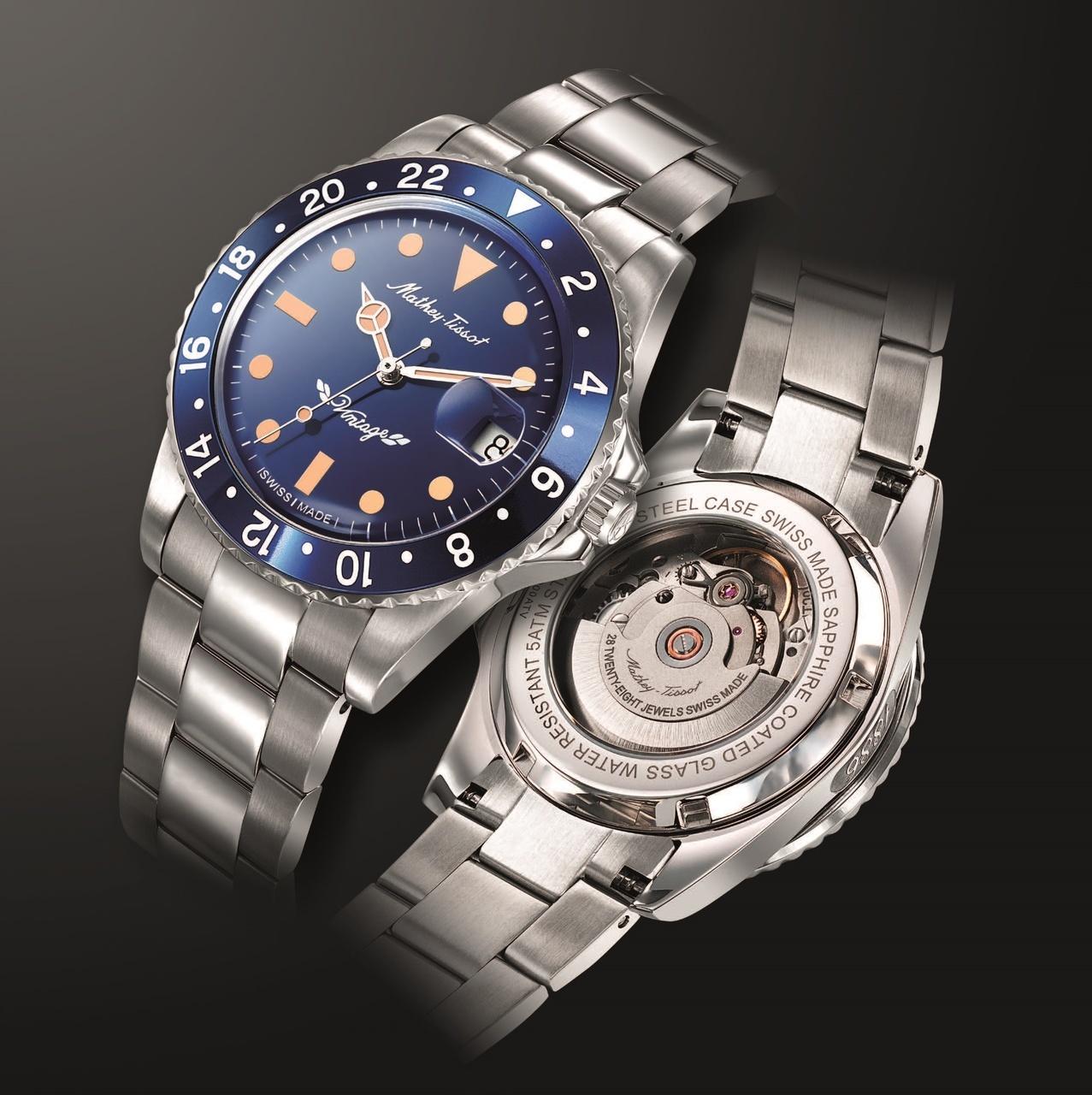 Sélection de montres MatheyTissot en promotion - Ex: Montre Mathey-Tissot Rolly Vintage Automatique (Frais de port et de douane inclus)