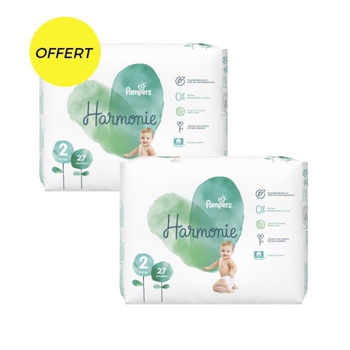 1 Acheté = 1 Offert sur une sélection de produits Pampers Harmonie - Ex : 54 Couches (Taille 2) pour 12.90€