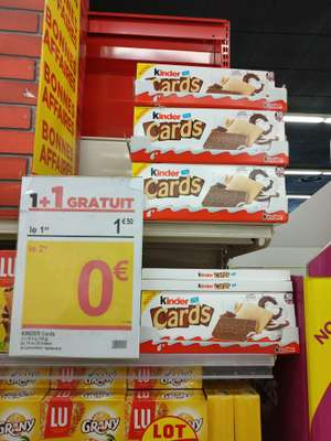 2 paquets de biscuits Kinder Cards - Hyères (83)