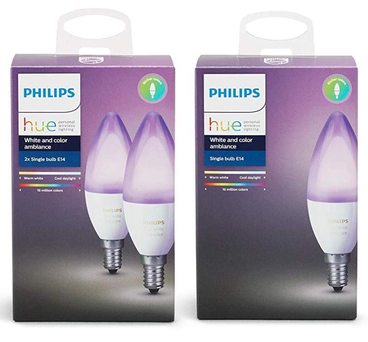Lot de 3 Ampoules connectées Philips Hue White and Color E14