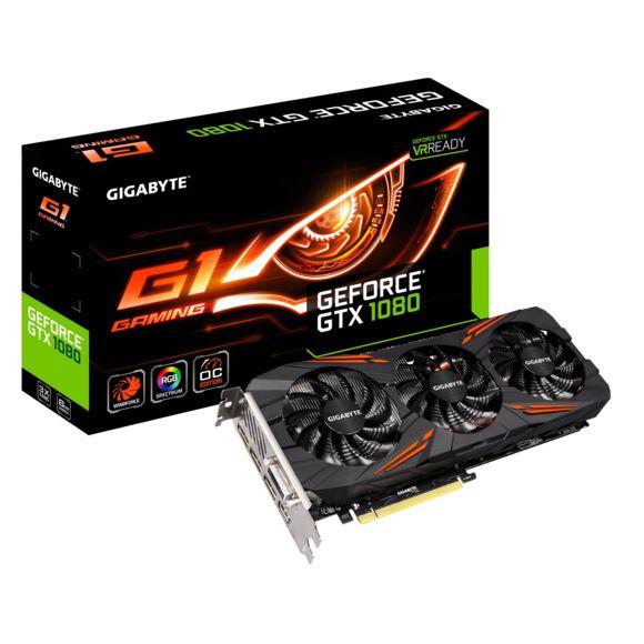 Carte graphique Gigabyte GeForce GTX 1080 G1 Gaming - 8 Go