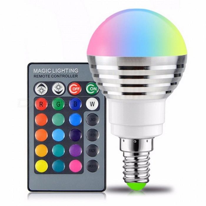 Ampoule E14 RGB LED 16-Couleurs