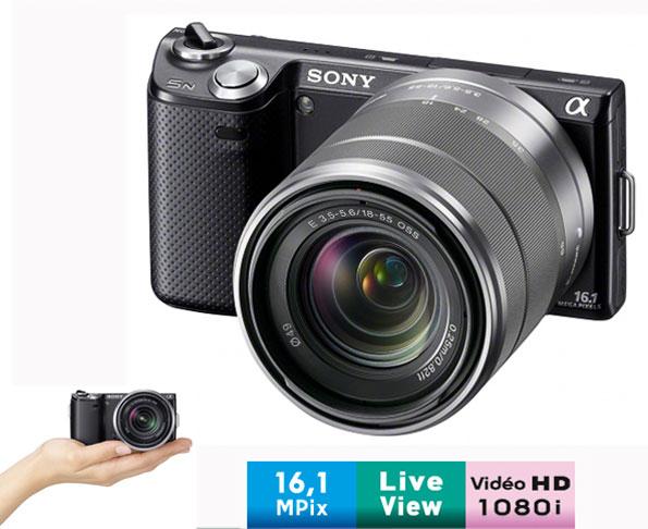 Sony NEX-5NK Noir + Obj. Stabilisé Sony E 18 - 55 mm f/3.5 - 5.6